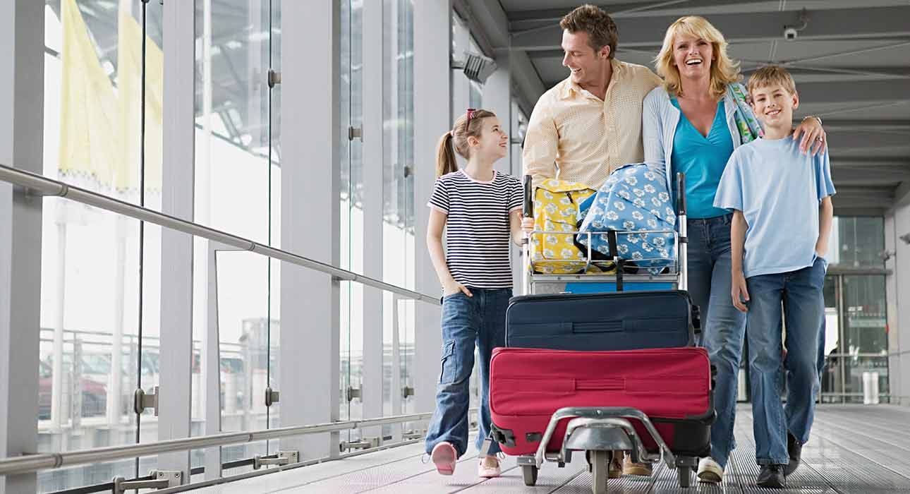 Family traveling together